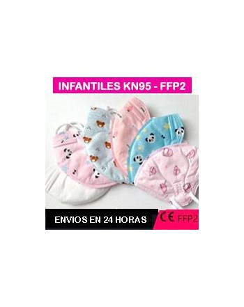 MASCARILLA SEGURIDAD INFANTIL FFP2 KN95 ROSA